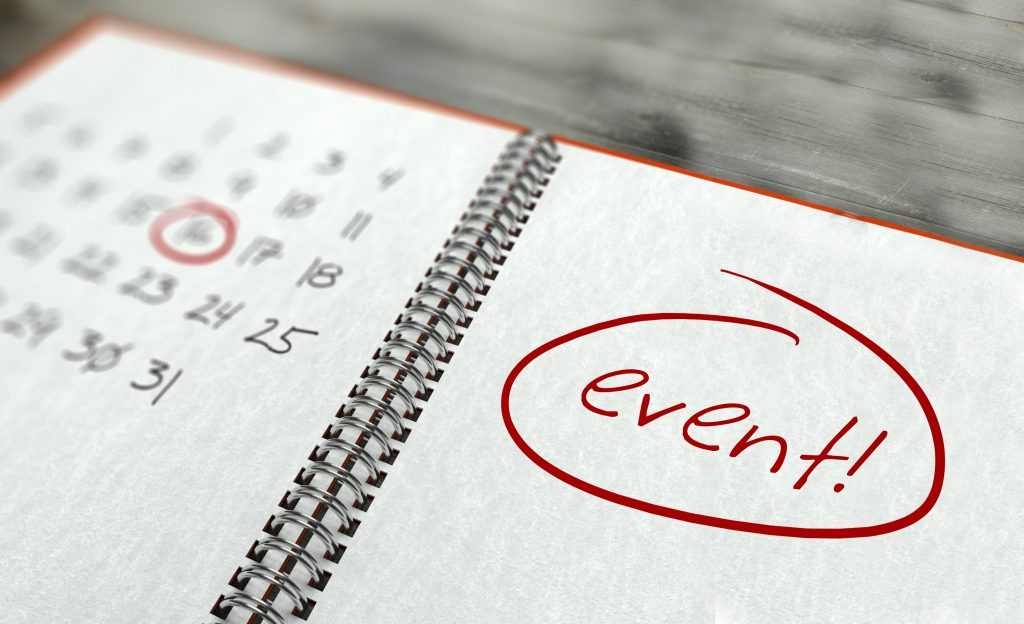 Event important day calendar concept